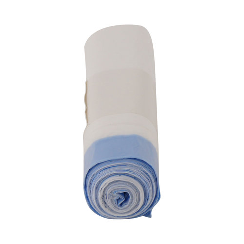 Plastic vuilniszak met trekkoord - 30 liter - 50x60 cm - rol á 25 stuks