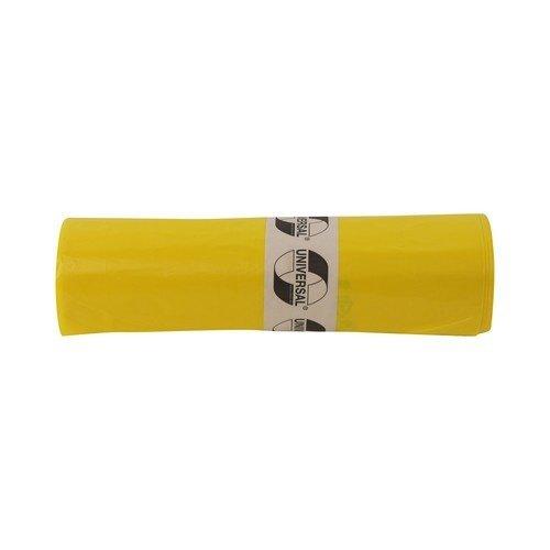 Gele vuilniszak - 120 liter - 70x110 cm - rol á 50 stuks