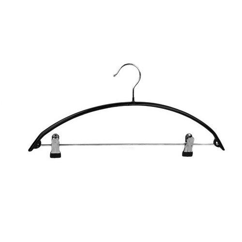 Pull-over kledinghangers - Zwart - Anti-slip coating met klemmen - Per stuk