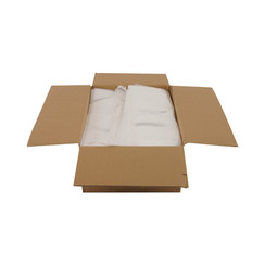 Transparante kleding zakken | 40 x 75 cm + 2 x 6 cm hoog | 500 stuks