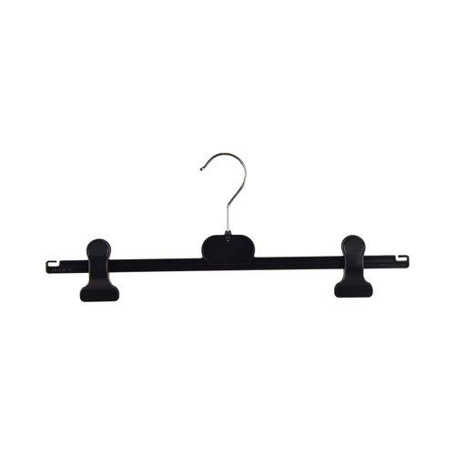 Kunststof kleerhangers RK/CAP-40 - Zwart rubber met klemmen - 200 stuks
