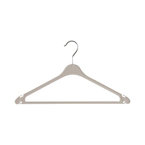 Kunststof kledinghangers K43 - Wit met dubbele inkepingen - 43 cm - 250 stuks