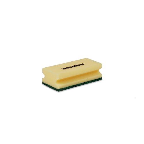 Schuurspons met grip - Geel/groen - 10 stuks - Wecoline