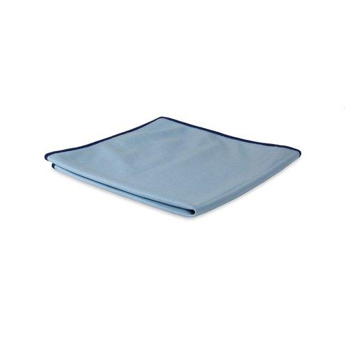 Microvezel glas- en metaaldoek - Blauw - 40x40 cm - 10 stuks