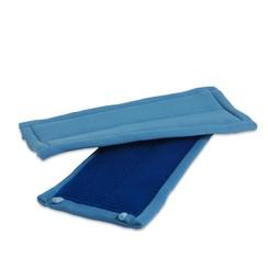 Microvezel glasmop recht - 26 cm - Blauw - 5 stuks - Wecoline