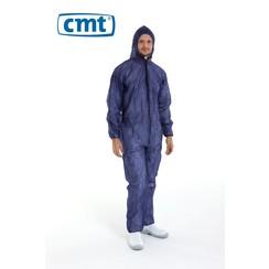 Overall PP met capuchon blauw - S t/m 3XL - 50 stuks - CMT