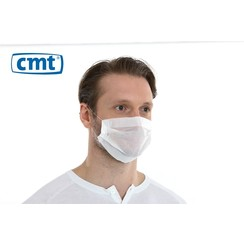 Mondmasker Mondkapje PP papier 1-laags - Wit - 100 stuks - CMT