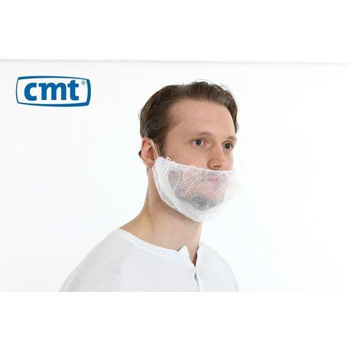 Baardmasker PP non woven - Blauw of wit - 100 stuks - CMT