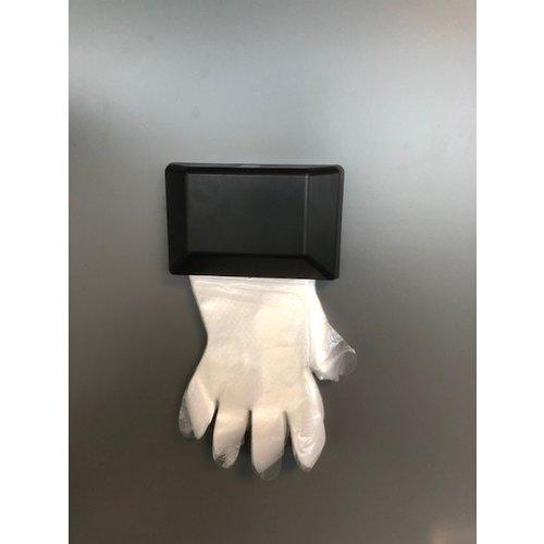 Wanddispenser voor PE handschoen - Zwart kunststof - CMT