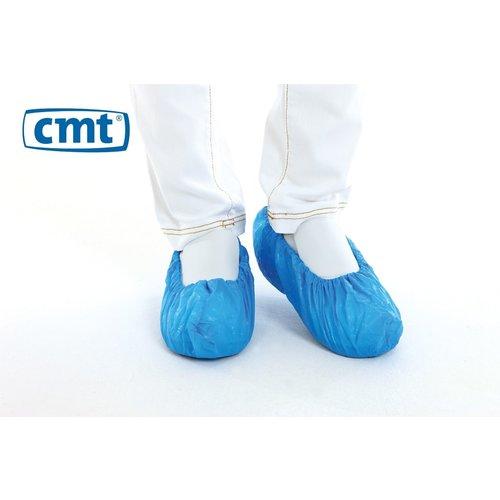 Schoenovertrek CPE blauw - 75 mµ 41x15 cm - 50 stuks - CMT