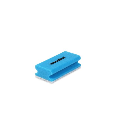 Schuurspons met grip - Blauw/wit - 10 stuks - Wecoline