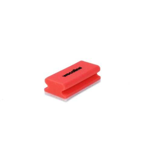 Schuurspons met grip - Rood/wit - 10 stuks - Wecoline