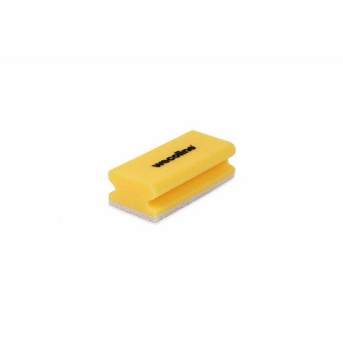Schuurspons met grip - Geel/wit - 10 stuks - Wecoline