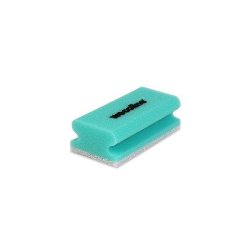 Schuurspons met grip - Groen/wit - 10 stuks - Wecoline