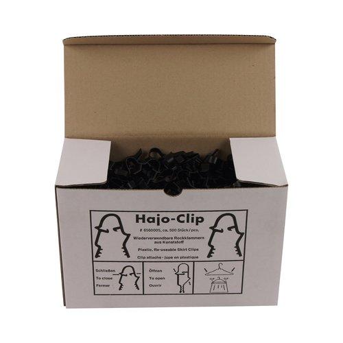 Rokklemmen Hajo-Clip - Zwart - 500 stuks