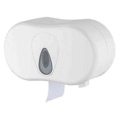 Toiletrolhouder 2-rols - Wit - PlastiQline - Kunststof