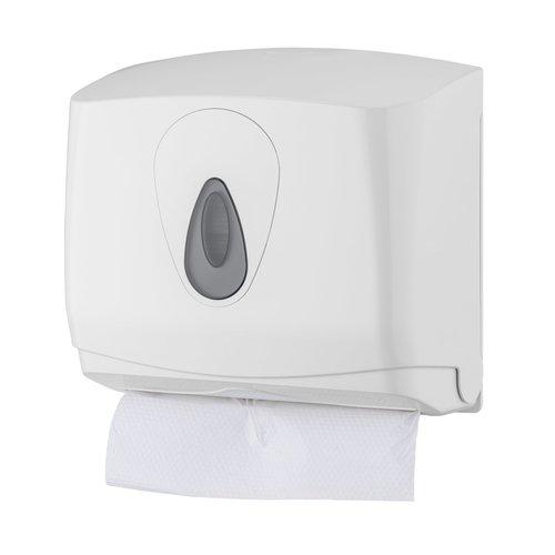 Handdoekdispenser mini - Wit - PlastiQline - Kunststof