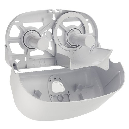 Toiletpapierdispenser 2-rols - Wit - PlastiQline - Kunststof