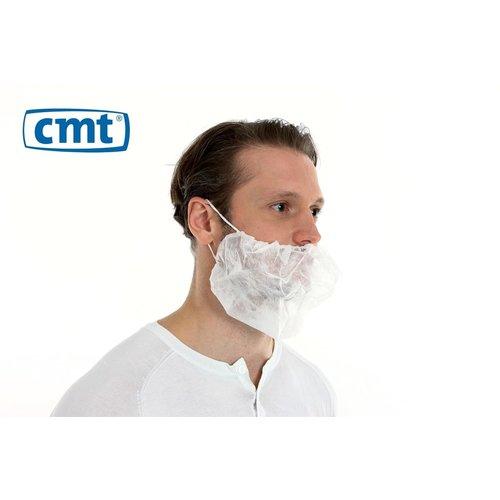 Baardmasker PP non woven wit - Dubbel elastiek - 100 stuks - CMT