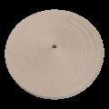 Katoenen singelband wit - 25 mm breed - 100 meter á rol