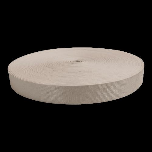 Katoenen singelband met synthetische rubberdraden - 50 mm breed - 100 meter á rol