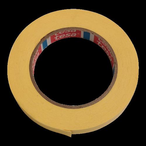 Tesa Tape zelfklevend centreertape - Geel - 15 mm breed - 10 meter á rol
