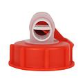 Dopkraan kunststof 61 mm - HDPE inwendig - Rood