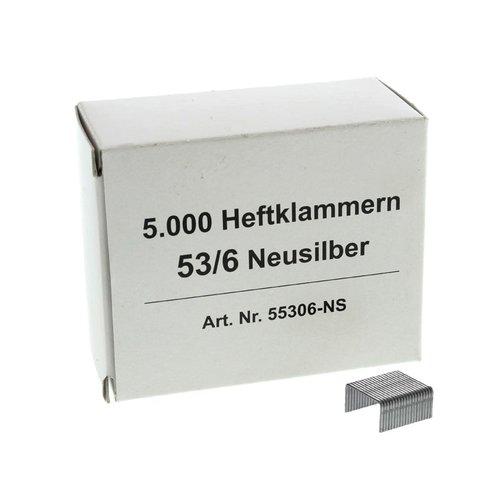 Nietjes 53/6 NS - 6 mm - Nikkel zilver - 5000 stuks