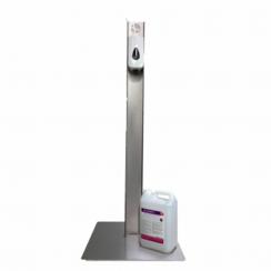 RVS desinfectiezuil | Handmatige dispenser