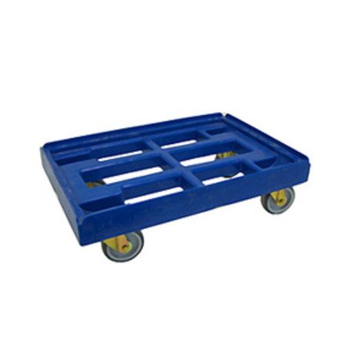 Transportwagen 60x40 cm - Voor kunststof bakken 80 tot 120 l