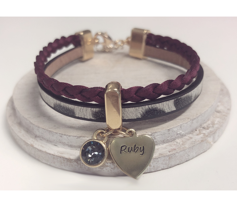 Armband | Panter bordeaux