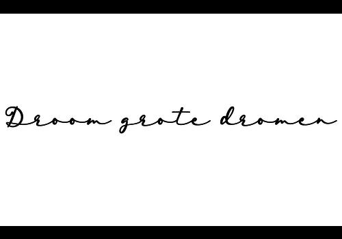 BrandLux Muursticker | Droom grote dromen