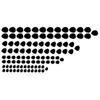 Muursticker | Drawn dots