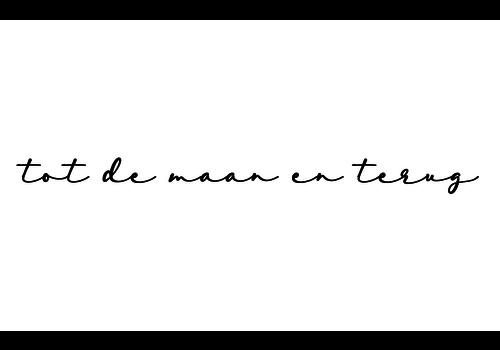 BrandLux Muursticker | Tot de maan en terug
