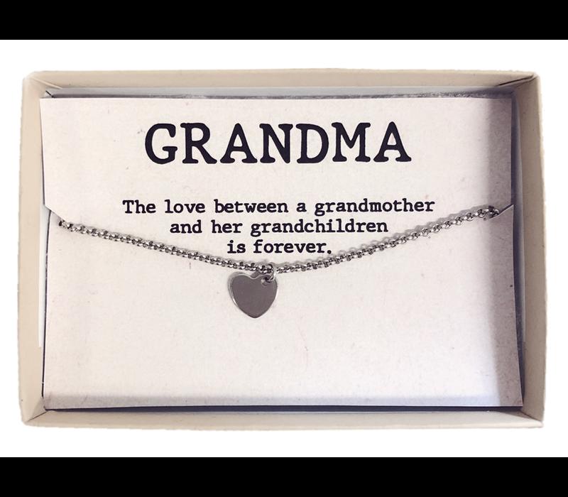Armband | Gift box grandma hart