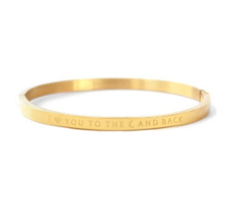 Armband | I love you to the moon and back gold
