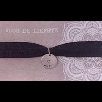 Armband | Elastiek zilver