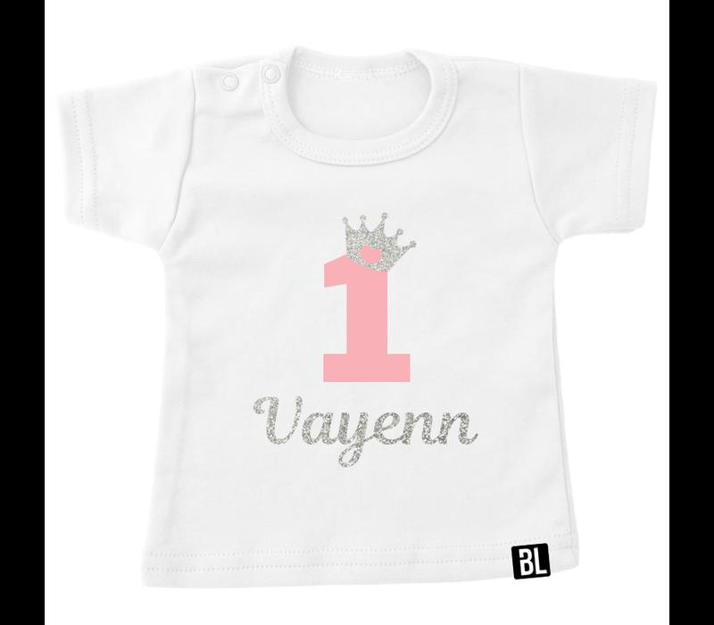 Shirt | Verjaardag kroontje zilver