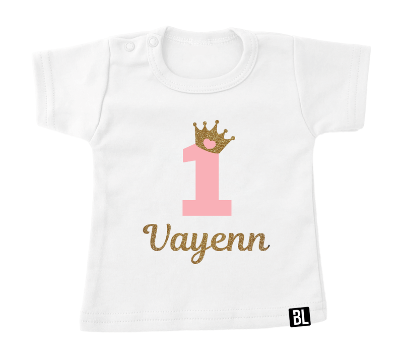 Shirt | Verjaardag kroontje goud