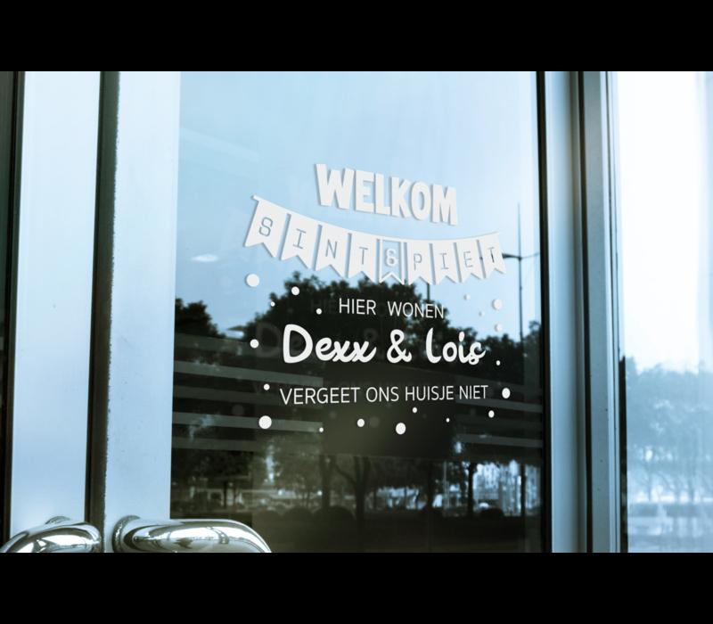 Deursticker | Welkom sint & piet