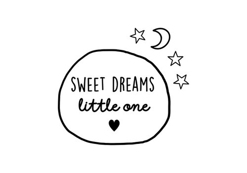 BrandLux Muursticker | Sweet dreams cirkle