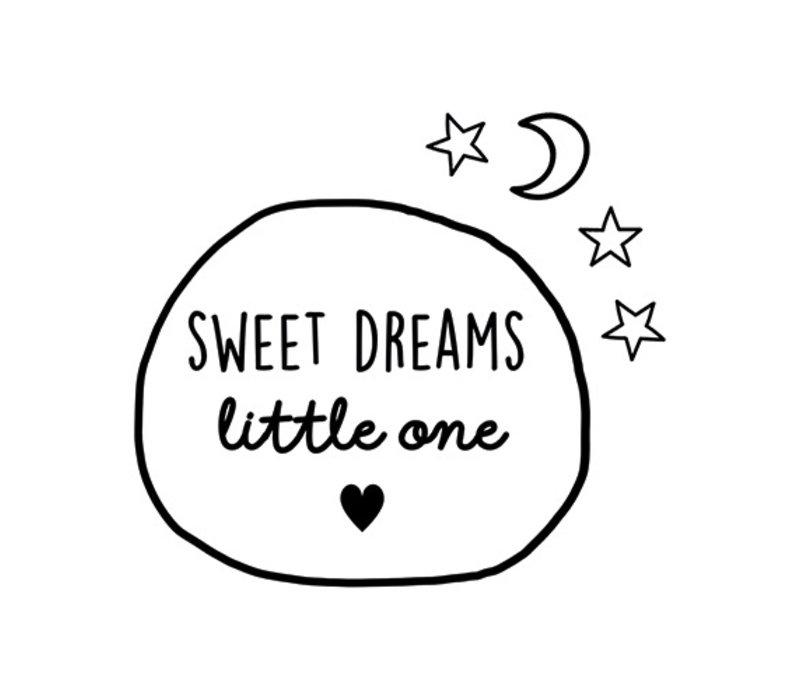 Muursticker | Sweet dreams cirkle