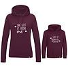 BrandLux Twinning hoodies | Burgundy She got it from me