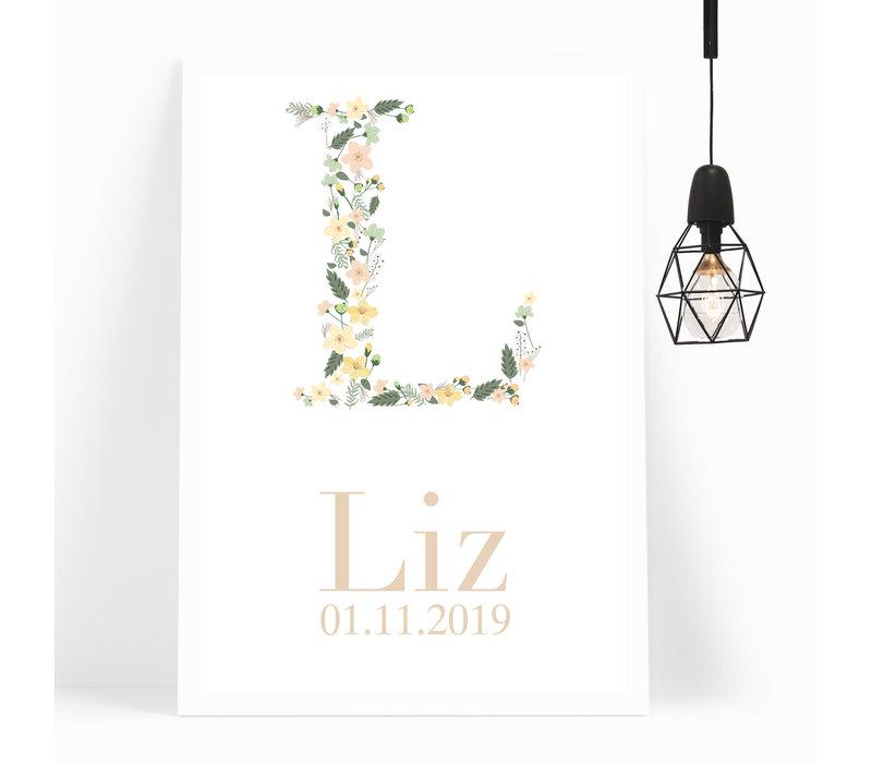 Kinderkamer Poster | Floral