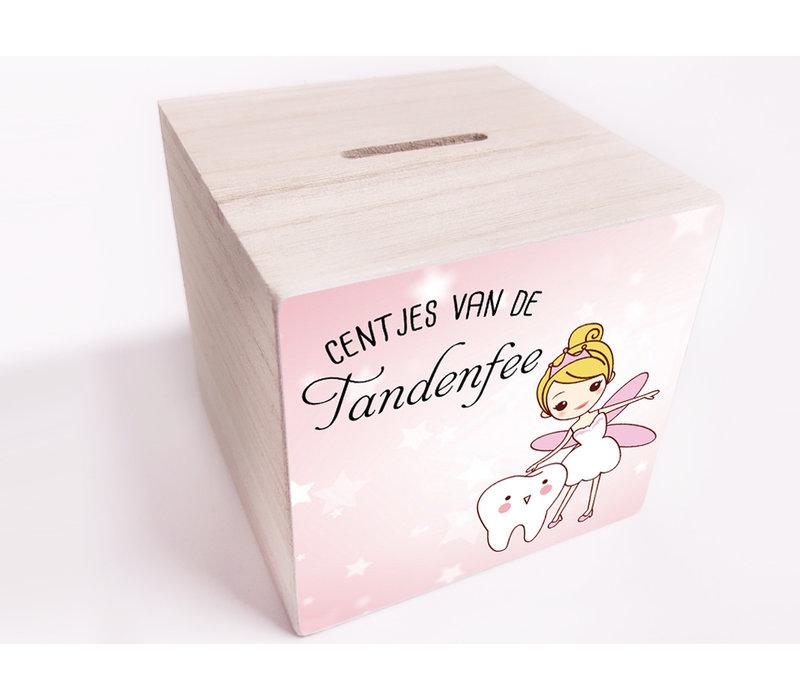 Spaarpot | Tandenfee roze ster