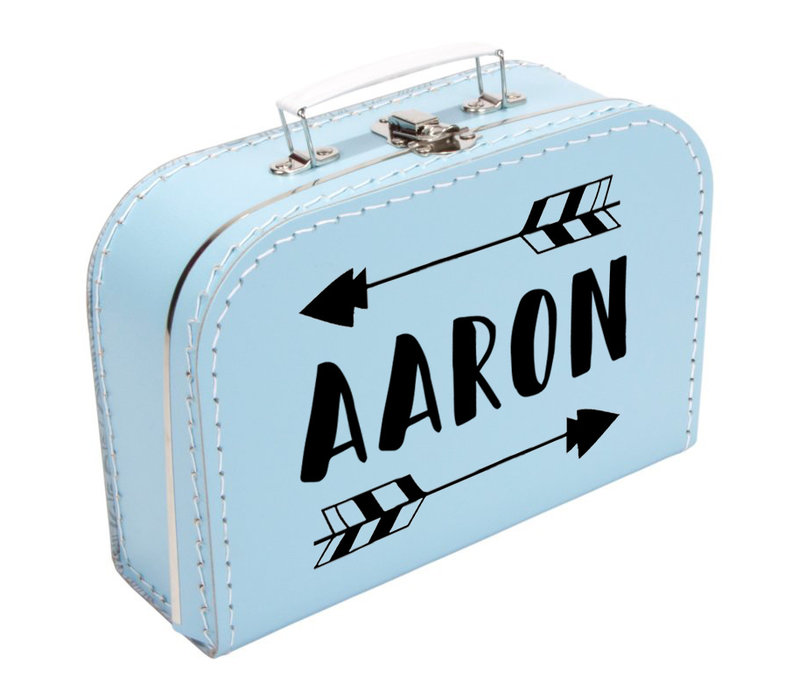 Koffertje | Naam met pijl