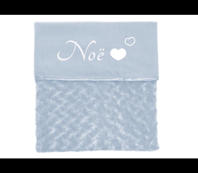 Baby deken | Naam hartjes