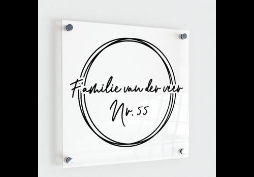 BrandLux Naambordje | Three cirkles
