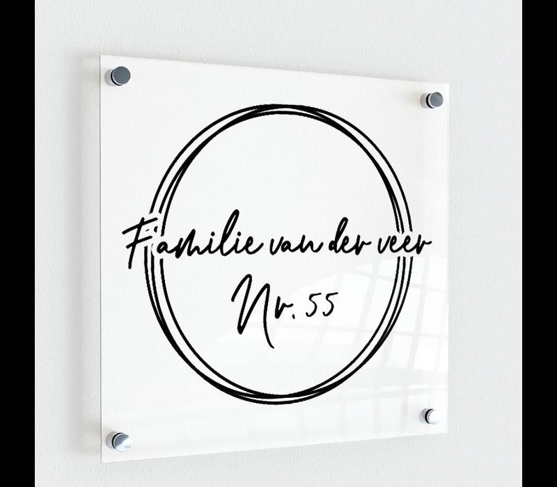 Naambordje | Three cirkles