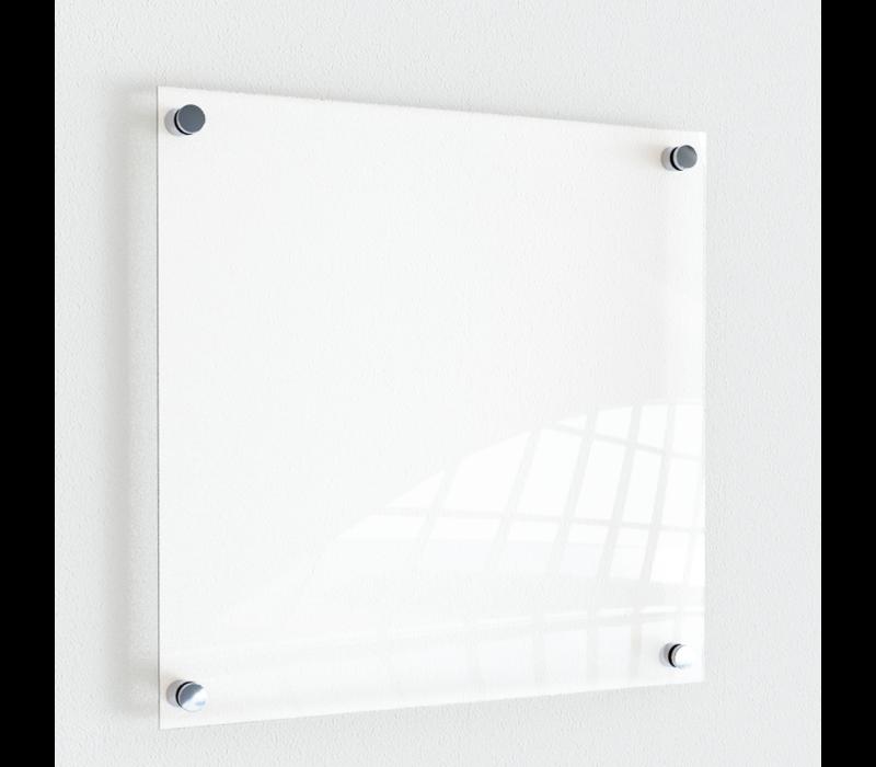 Naambordje | Blanco in transparant, zwart of wit.